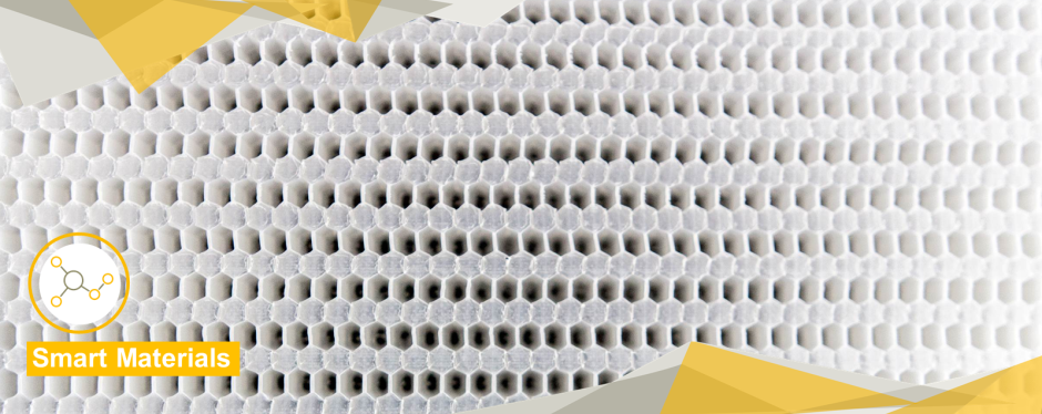 Surface of a white honeycomb material