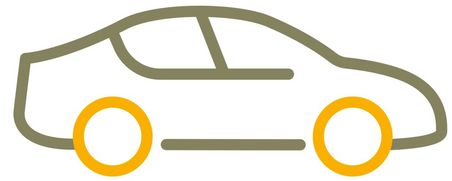 Simple graphical representation of a car